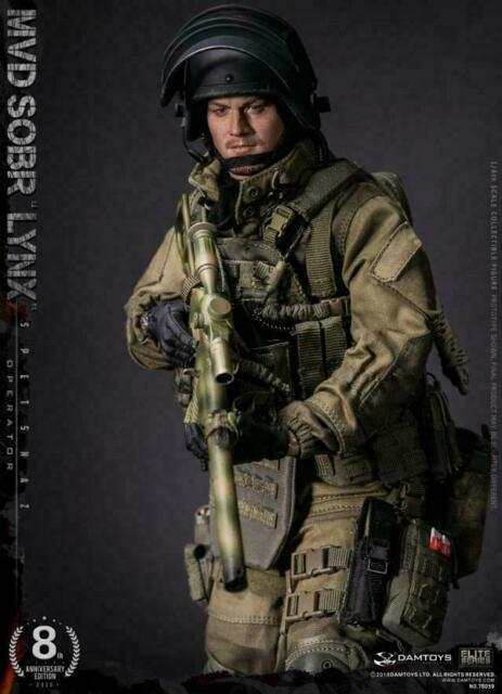 DAMTOYS fusil Russes Spetsnaz MVD SOBR LYNX 78059 1//6 ACTION FIGURE TOYS DID