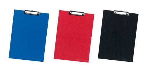 DIN A4 je 1x blau schwarz und rot Farbe 3x Herlitz Klemmbrett
