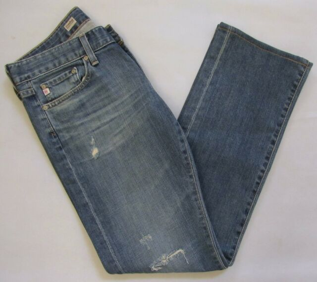 AG Adriano Goldschmied Tomboy Relaxed Straight Denim Jeans 28 Distressed 17 Year