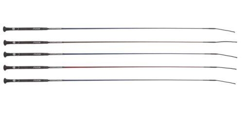 FLECK Ultra Light Carbon Composite Dressage//Schooling Whip Black//Grey//Brown//Red