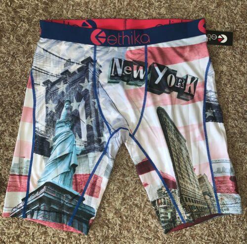 Ethika Staple New York NYC Statue Liberty Mens Boxer Brief Underwear sz L 33-35