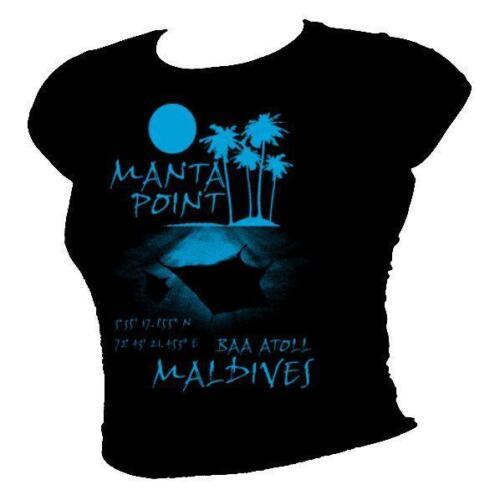 Manta point maldives-top 10 sites de plongée plongée sous-marine t-shirt homme