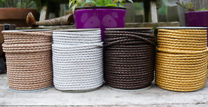 4mm Braided Leather Cord
