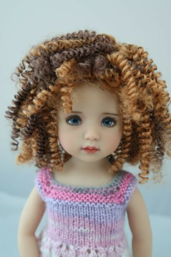 New Wig for Dianna Effner Little Darling doll Tanesha Gold Brown curls 7 1//4
