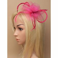 33a846308f8ce Feather Looped Headband Alice Band Fascinator Ladies Day Wedding Royal Ascot