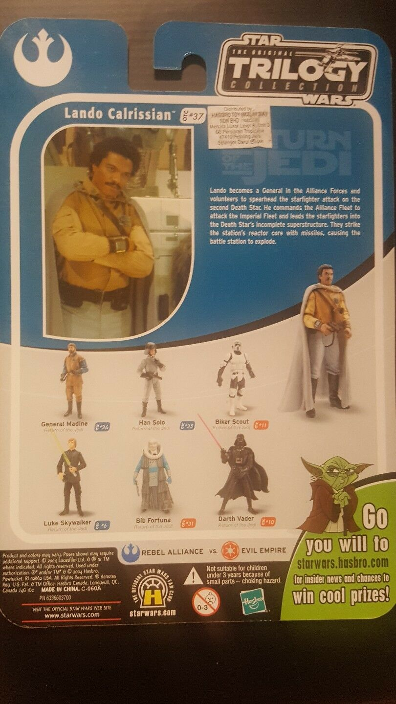 Star Wars Trilogy Collection Land Calrissian  37 Proof Card