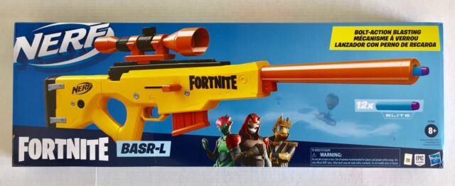 Nerf Fortnite Basr L Bolt Action Clip Fed Blaster Removable Scope Gun New Nib Ebay