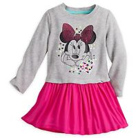 Disney Store Minnie Mouse Knit Dress For Girls - Size:3, 5/6