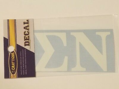 Sigma Nu Sticker of Letters for Outside Glass Craftique Reflective Decal