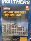 Walthers Cornerstone HO #3046 George Roberts Printing Company - Kit  Form NEW