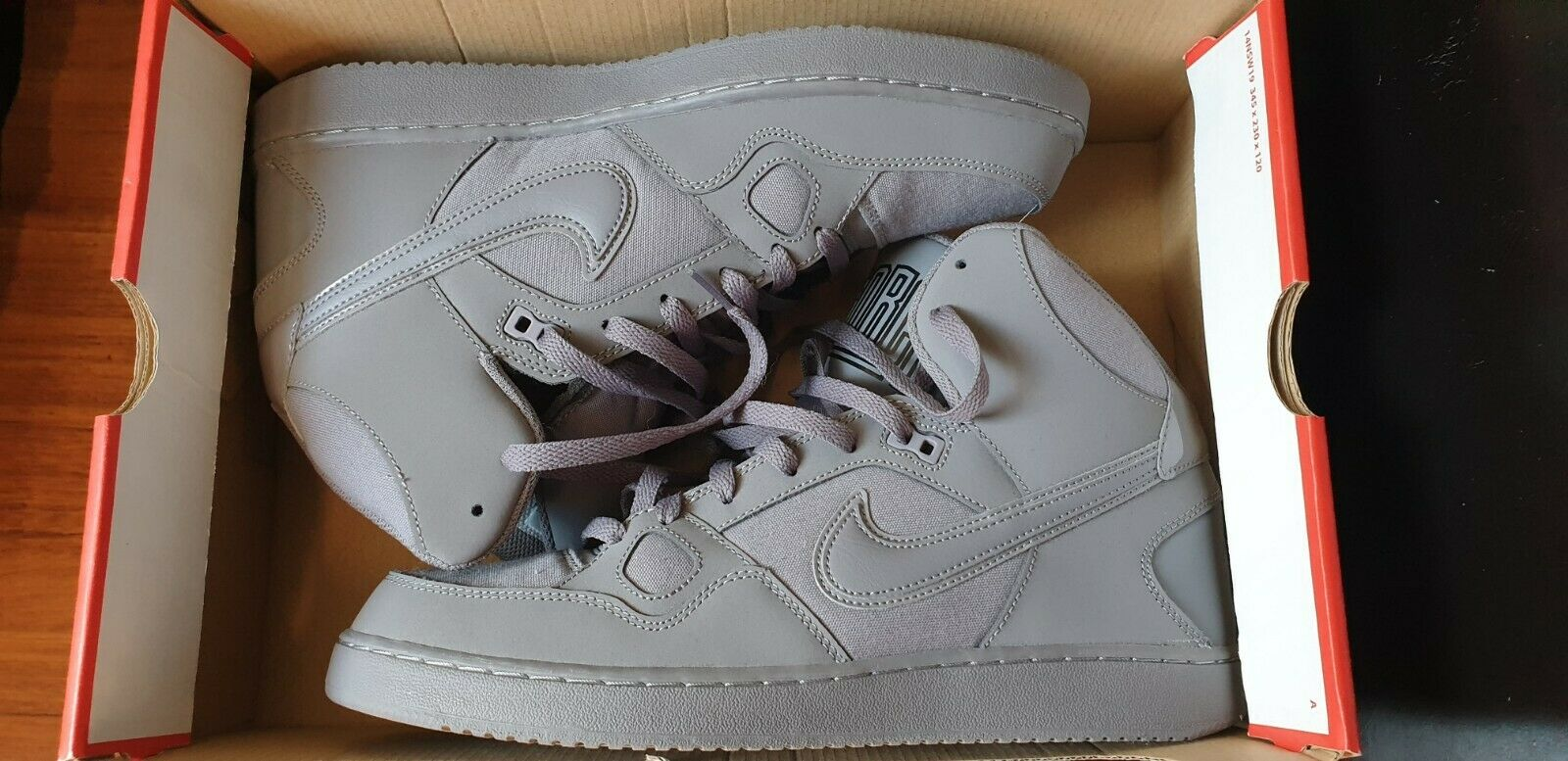 Nike Son Of Force Mid Gunsmoke-Black UK 9.5   CM 2.8   BR 42.5   EUR 44.5 NEW