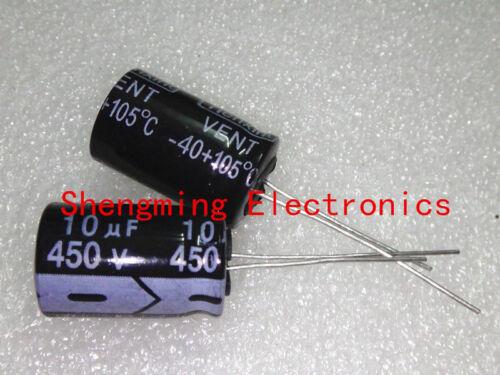 50pcs 10uF 450V Electrolytic Capacitor 450V10UF 13x21mm