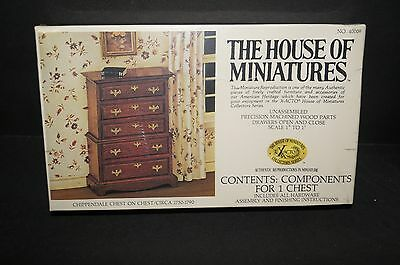 The House of Miniatures Kit Chippendale Chest on Chest