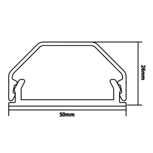 5 cm breit 4x Alu Kabelkanal 75 cm halbrund Montagematerial inkl silber