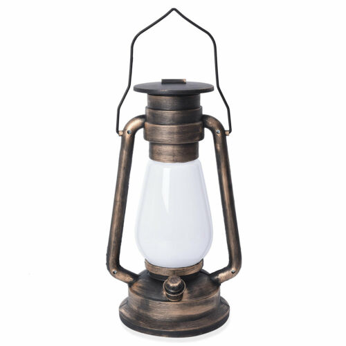 Home Decor Black with Gold Brushed Plastic Resin LED Barn Lantern Gifts for Dad
