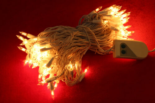 Weihnachtsbaum Beleuchtung Mini Lichterkette klar 80 Lichter Programm-Schalter
