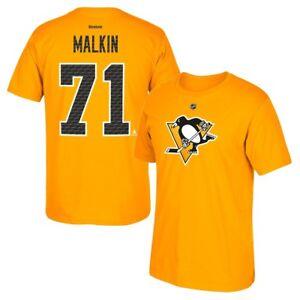 Evgeni-Malkin-Reebok-Pittsburgh-Penguins-039-Tri-Matrix-039-Jersey-T-Shirt-Men-039-s