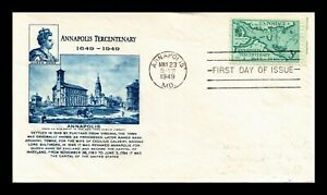 DR-JIM-STAMPS-US-ANNAPOLIS-TERCENTENARY-FIRST-DAY-OF-ISSUE-COVER-SCOTT-984
