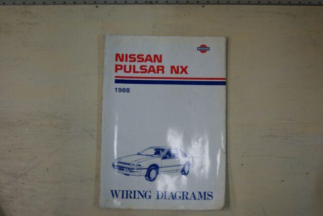 1988 Nissan Pulsar Nx Factory Shop Service Repair Wiring
