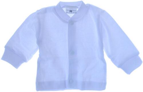 Hemdchen Baby Shirt Weiß 50 56 62 68 74 mit Druckknöpfe
