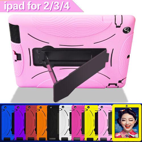 iPad 2 3 4 Case Cover Skin for iPad 2 iPad 3 iPad 4 Heavy Duty With Kickstand