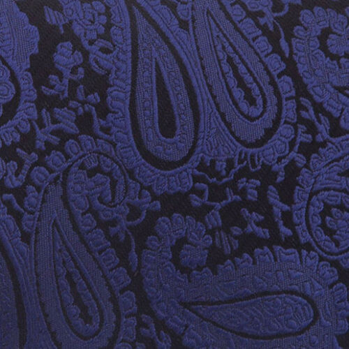 DQT Woven Floral Paisley Navy Blue Mens Pre-Tied Bow Tie /& Hanky Wedding Set