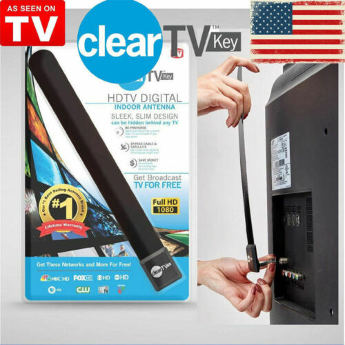Clear TV Key TV Indoor Antenna Digital Ditch Cable FREE 1080P HDTV As Seen on TV