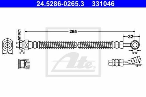 Original ATE 24.5286-0265.3 Bremsschlauch