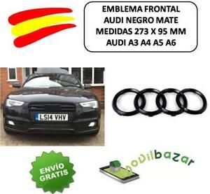 Details Sur Embleme Logo Insignia Audi A3 A4 A5 A6 Noir Mat Avant Grille 273 X 95mm