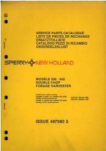 NEW HOLLAND 719 FORAGE HARVESTER OPERATORS MANUAL AB2