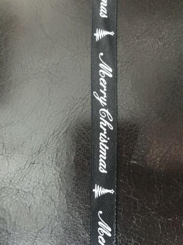 Craft Cinta 10mm disponible en longitudes de 1m 12m Negro//Verde con Dibujos De Navidad