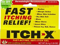 2 Pack - Itch-x Anti-itch Gel Itch Relief 1.25 Oz Each on sale