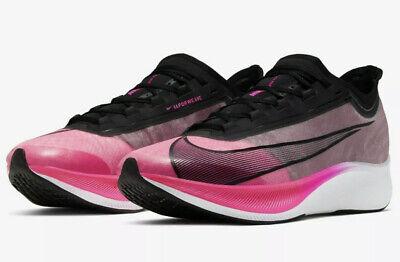 Nike Zoom Fly 3 Mens Size Running Shoes Pink Blast Max Air Vapor Next X  Marathon | eBay