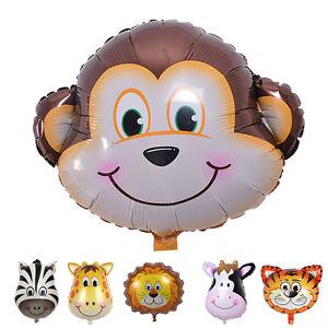 Cute Big Size Animal Head Balloons Helium Foil Ballons birthday