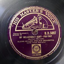 78rpm GLENN MILLER my melancholy baby / who`s sorry now