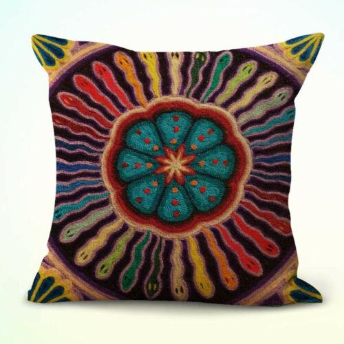 US Seller set of 2 Wixaritari indigenous Mexican art cushion pillow covers