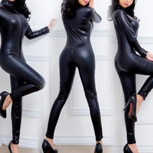 Femme Sexy Lingerie Combinaison Legging Cuir Déguisement Vêtement Babydoll Mode Ebay