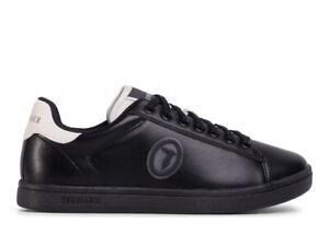 Scarpe uomo Trussardi Jeans 77A00274 sneakers casual sportive basse pelle nere