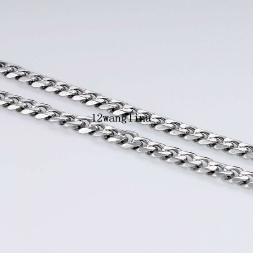18-36/'/' MEN Stainless Steel 3//5//7//9//11mm Silver Tone Cuban Curb Chain Necklace