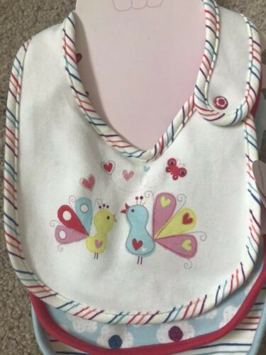 One Size Stripes. White Flower Girls BNWT Honey Boo Boo 3 Pack Bibs