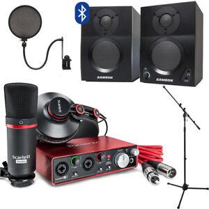 Details about Focusrite Scarlett 2i2 Studio with Home Recording Kit on focusrite saffire 6 driver, focusrite control 2802, laptop recording studio, focusrite with phantom, focusrite usb, focusrite studio bundle,