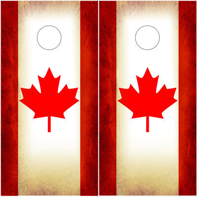 Pleasing Cornhole Wraps Canadian Flags Beanbag Toss Vinyl Decal Wrap Canada 2 Pack Rustic Ebay Machost Co Dining Chair Design Ideas Machostcouk