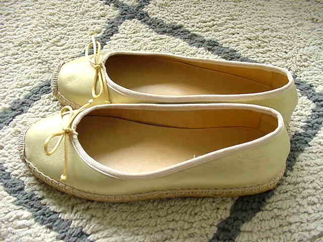 JON JOSEF,Paloma Espadrille Flats,GOLD Leather,Ballet Flats,Slip On,Donna SCARPE