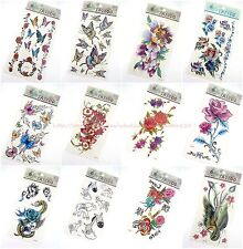 10 sheets temporary tattoo rose bohemian hippy wholesale butterfly