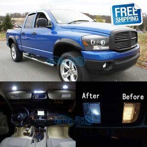 White Led Lights Interior Package Kit For 2006 2008 Dodge Ram 1500 2500 3500 707427243361 Ebay