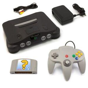 N64-Nintendo-64-Konsole-Controller-grau-Gratis-Spiel-Zub