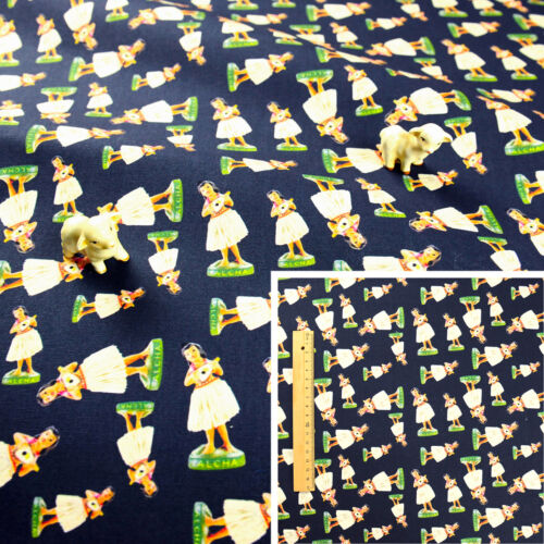 Cuarto gordo Medidor Azul Marino//// FQ 100/% algodón canvas fabric Sew Craft Muñecas de Hawaii