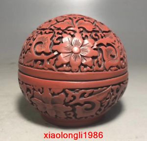 Old China antique Red out Lacquer ware box