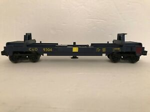 LIONEL-O-SCALE-TRAIN-C-amp-O-6-9304-CHESAPEAKE-amp-OHIO-DUMP-CAR-SOME-ISSUES