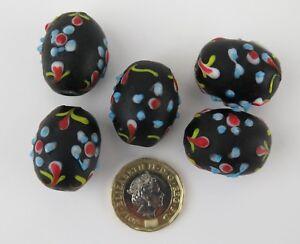 African trade beads. Five 'Ambassador' beads